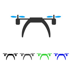 Copter flat icon vector