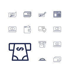 Credit icons vector