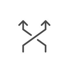 cross arrows line icon vector image