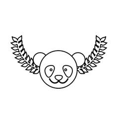 Cute panda cartoon vector