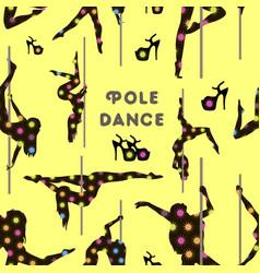 dancing on pylon pattern vector image