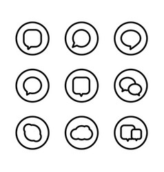 different web icons social media pictograms vector image