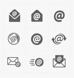 E-mail icons on white background vector