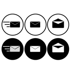 envelope mail icon stock flat vector image