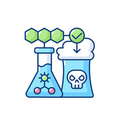 Environmental biotechnology rgb color icon vector