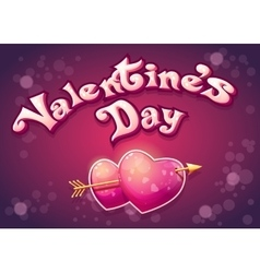 Festive of Valentines Day vector image