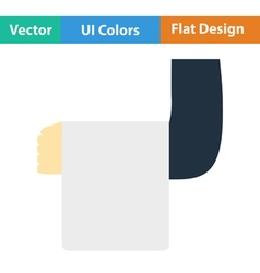 Flat design icon of Waiter hand with towel vector image