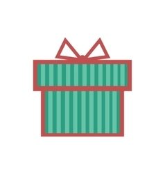 Flat icon on white background gift box vector