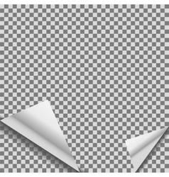 Folded transparent blank note planner vector image