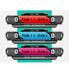 Football sport scoreboard template vector