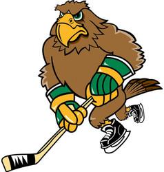 Hawk hockey logo mascot vector