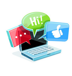 Icon for online web chat vector