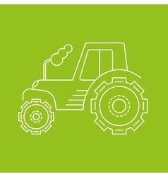 Icon or logo of the tractor vector