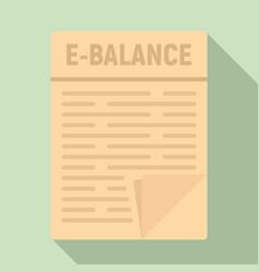 internet money balance icon flat style vector image