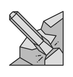 Iron chisel color icon vector