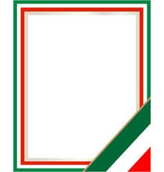 Italian flag symbol frame vector