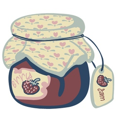 jam pot vector image
