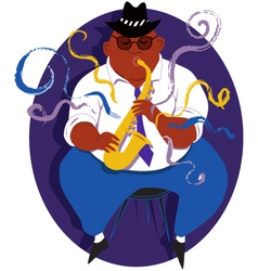 Jazz saxophone player vector