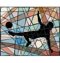 Kick mosaic vector image