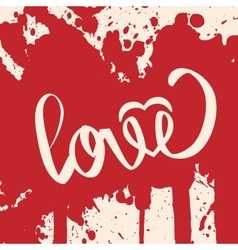 Lettering LOVE For themes vector image