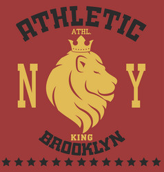 Lion new york vector