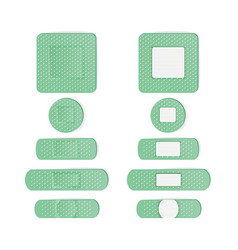 Medical patch bandage in different shape vector