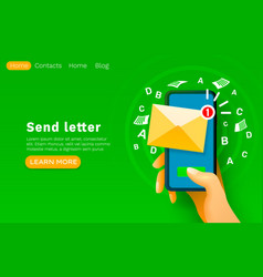 mobile email message chat internet web site vector image