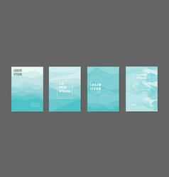 modern abstract covers set sea green shade vector image
