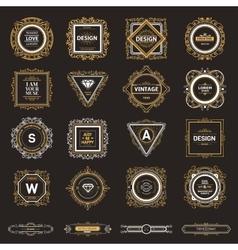 Monogram luxury logo template vector