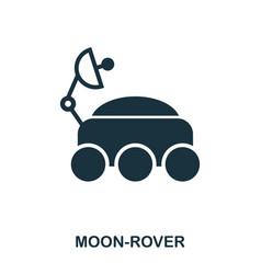 moon-rover icon flat style icon design ui vector image