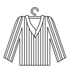 Pajama shirt icon outline style vector