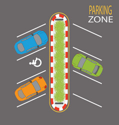 Parking zone4 vector