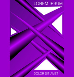 Poster flyer leaflet or cover template violet vector