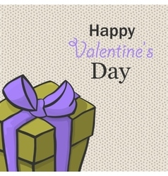 Present for valentine day hand drawn isome vector image