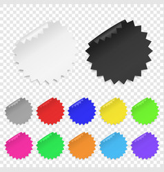 realistic 3d circle adhesive colored blank vector image