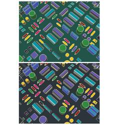 retro circuit design closeup vector image