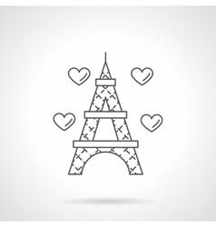 Romantic trip flat line icon vector image