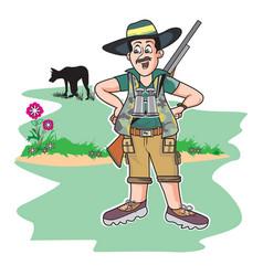 safari hunter vector image