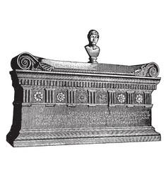 sarcophagus of lucius cornelius scipio barbatus vector image