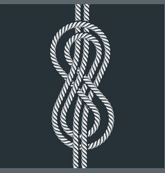 Sea boat rope eight knot vector
