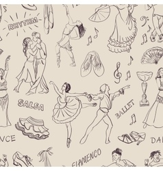 Seamless pattern of the dancing vector image