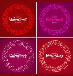 set valentines day card design vector image