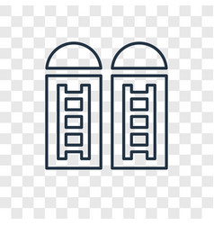 Silo concept linear icon isolated on transparent vector