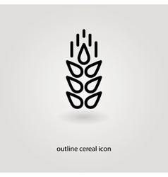 simple outline cereal icon vector image