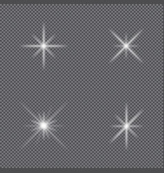 sparkle lights stars vector image