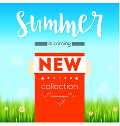Summer new collection bright advertising banner vector