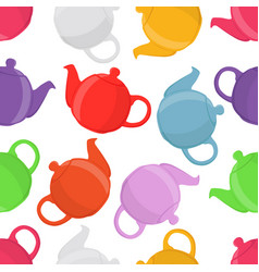 teapots seamless pattern vector image