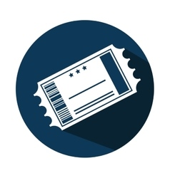 ticket cinema paper isolated icon vector image