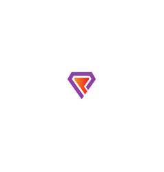 triangle initial brand colored company logo vector image
