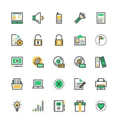 User Interface and Web Colored Icons 2 vector